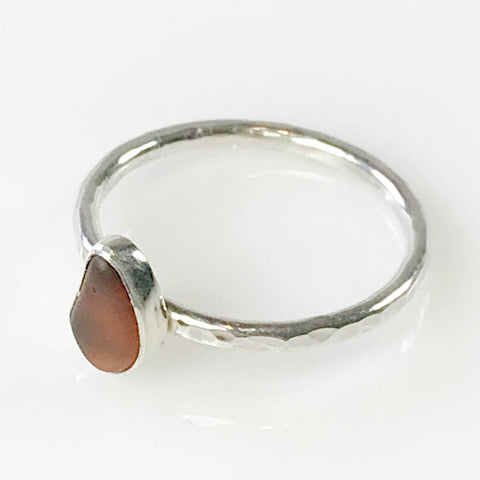 BROWN STACKING RING