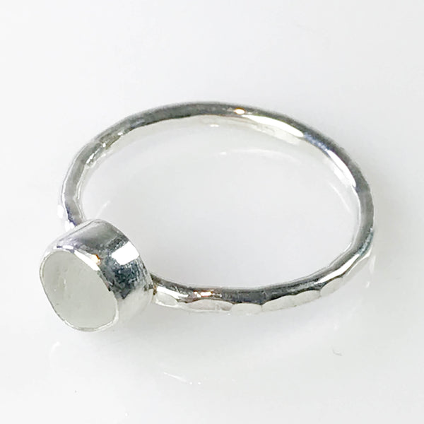 WHITE STACKING RING