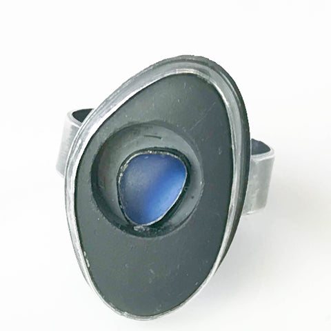 MAPLE BAY STONE RING WITH COBALT INSERT