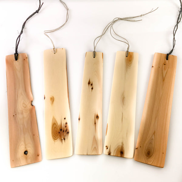 YEW WOOD BOOKMARKS