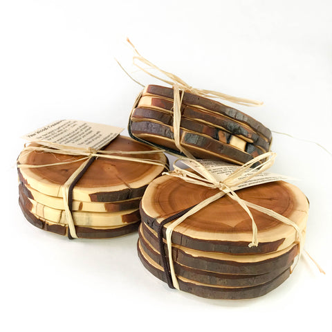 YEW WOOD COASTERS