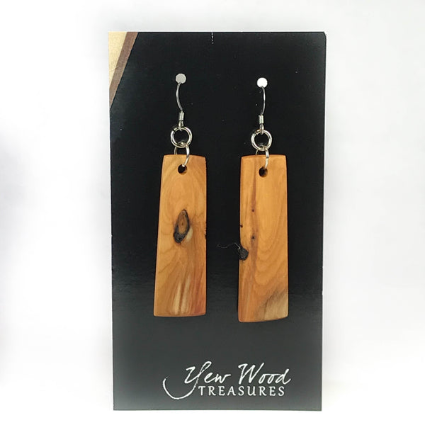 YEW WOOD EARRINGS