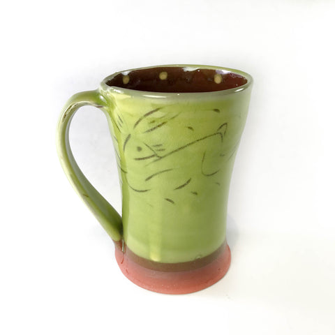 GREEN RABBIT DESIGN MUG