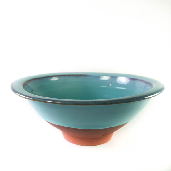 TURQUOISE BOWL WITH FLAT RIM