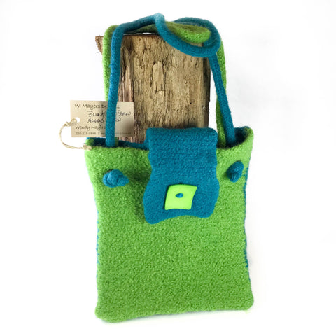 BLUE AND GREEN SHOULD ALWAYS BE SEEN - HANDBAG