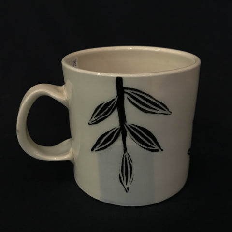CARVED DESIGN MUG - LEAF DESIGN