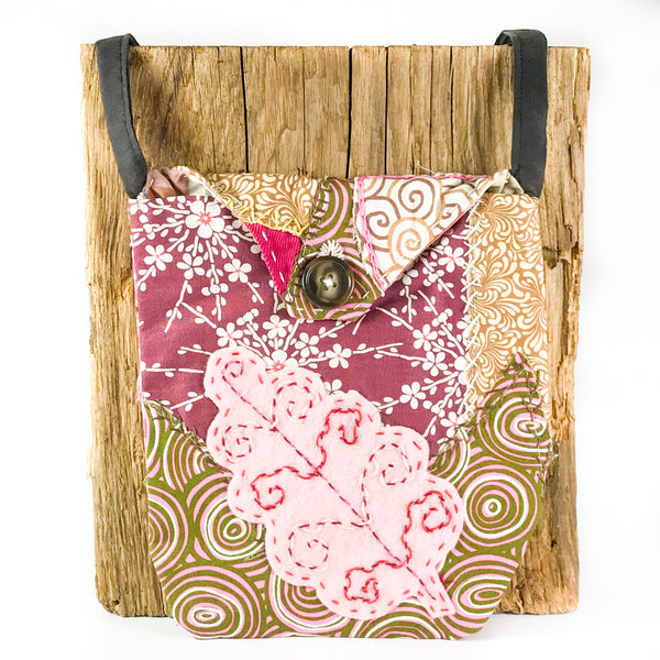 MISS BELLE'S CARAVAN - PINK FERNS LULU BAG