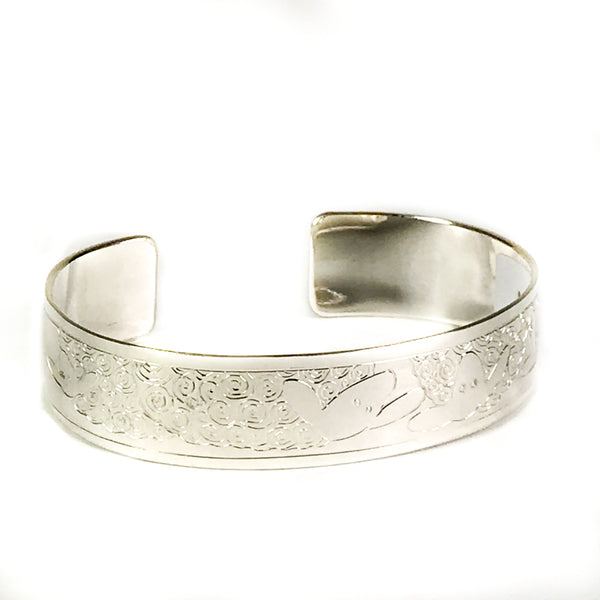 STERLING SILVER CUFF BRACELET WITH SHEEP