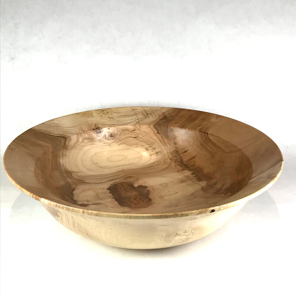 MAPLE FIGURED AND BURL BOWL