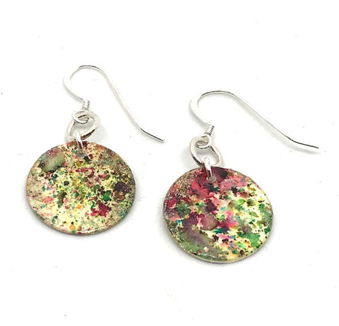 ROUND HAND-PAINTED ROUND EARRINGS