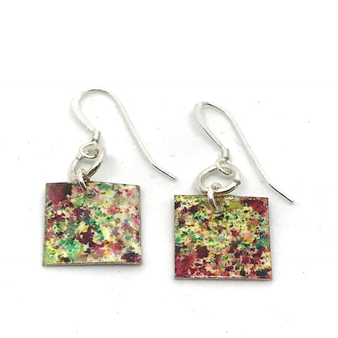 HAND-PAINTED SQUARE EARRINGS