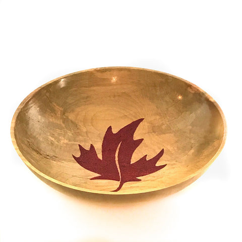 WESTERN MAPLE BOWL W/ EMBOSSED RED MAPLE LEAF