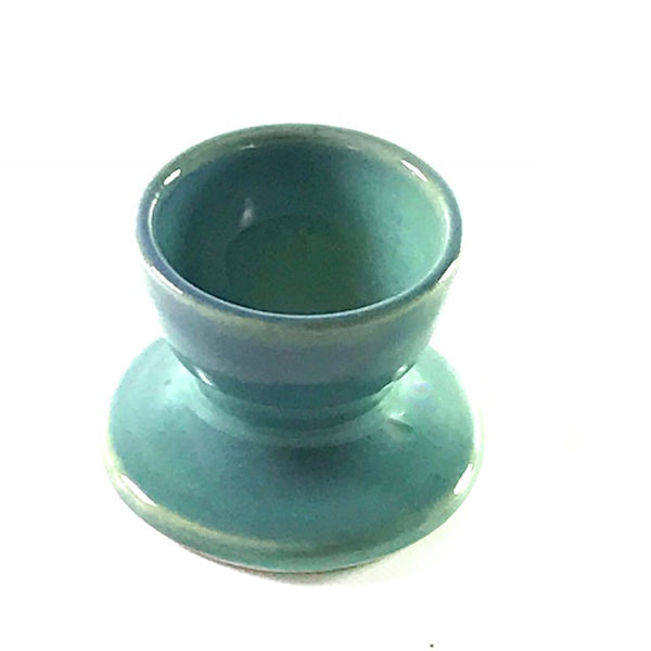 Ceramic egg cup in the colour aqua - Side Street Studio