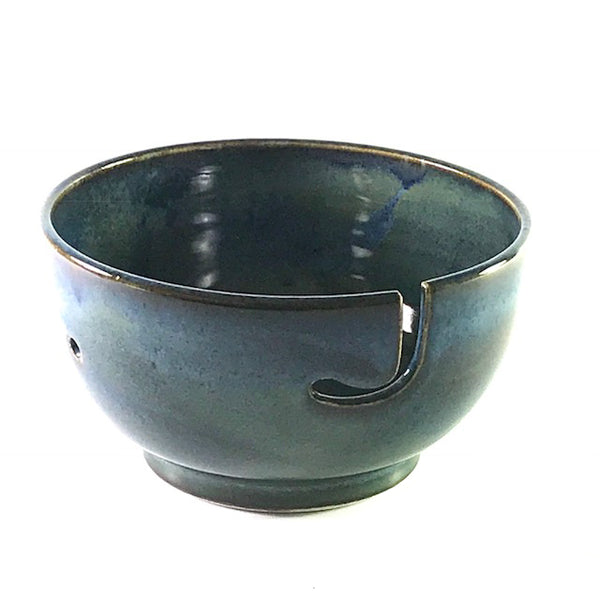 Ceramic Large Yarn Bowl in Blue