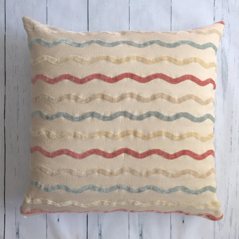 "24"" VELVET WAVES SQUARE FLOOR PILLOW"
