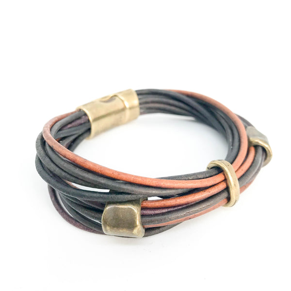 MULTI STRAND LEATHER WRIST WRAP