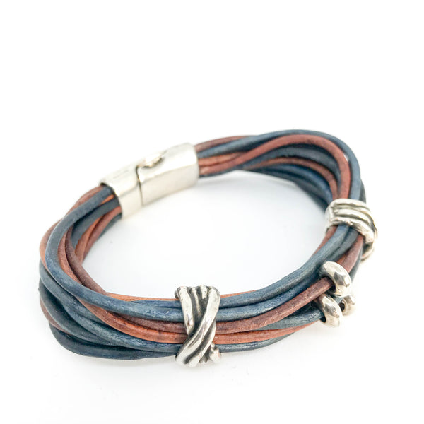 MULTI-STRAND LEATHER WRIST WRAP