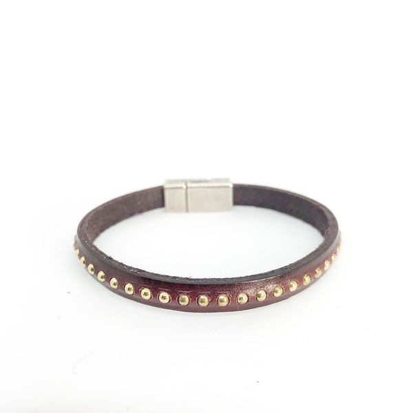 MULTI STUD LEATHER BRACELET