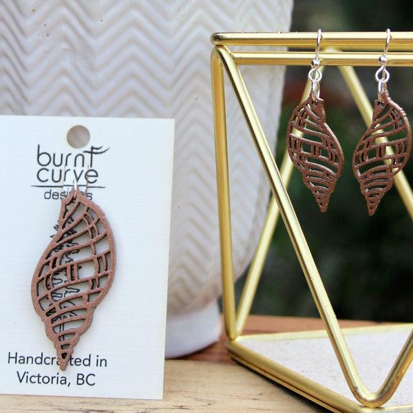 WHELK EARRINGS COPPER