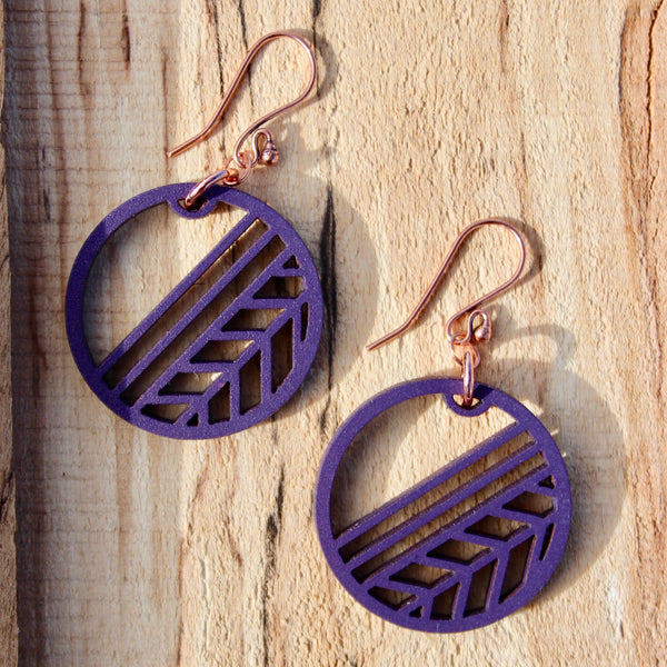 WAYFINDER EARRINGS GRAPE