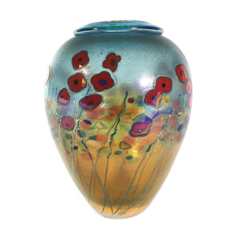 California Poppy Ginger Pot Vase