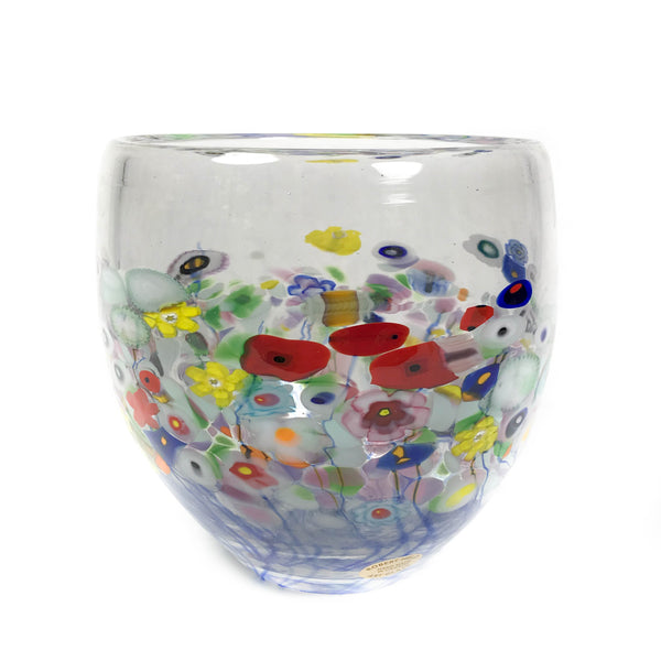 Clear Flower Bouquet Round Bowl Vase - Side Street Studio