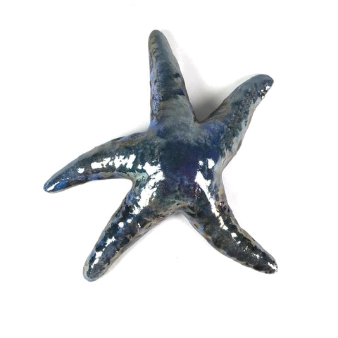 MEDIUM RAKU STARFISH - BLUE