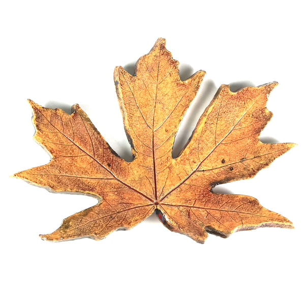 MEDIUM RAKU MAPLE LEAF - YELLOW