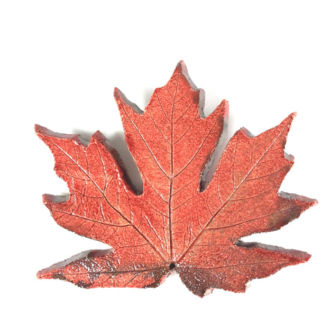 MEDIUM RAKU MAPLE LEAF - BURNT ORANGE