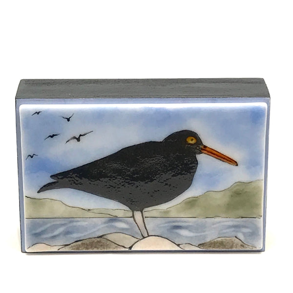 FUSED ART GLASS OYSTERCATCHER