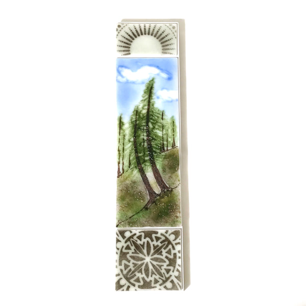 FUSED ART GLASS SWAYING TREES