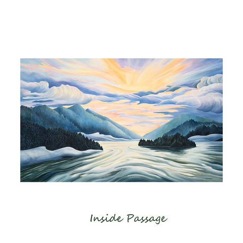 """INSIDE PASSAGE"" 8X10 MATTED PRINT"