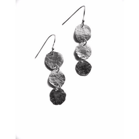 STERLING SILVER HAMMERED EARRINGS - Side Street Studio
