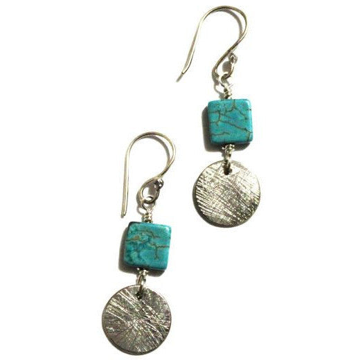 STERLING SILVER & TURQUOISE EARRINGS - Side Street Studio