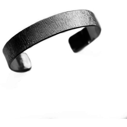 STERLING SILVER TEXTURED CUFF BRACELET - Side Street Studio