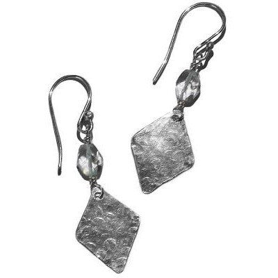 STERLING SILVER & AQUAMARINE EARRINGS - Side Street Studio