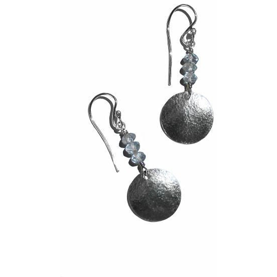 STERLING SILVER & APATITE EARRINGS - Side Street Studio