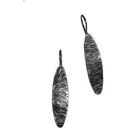 STERLING SILVER TEXTURED DROP EARRINGS - Side Street Studio