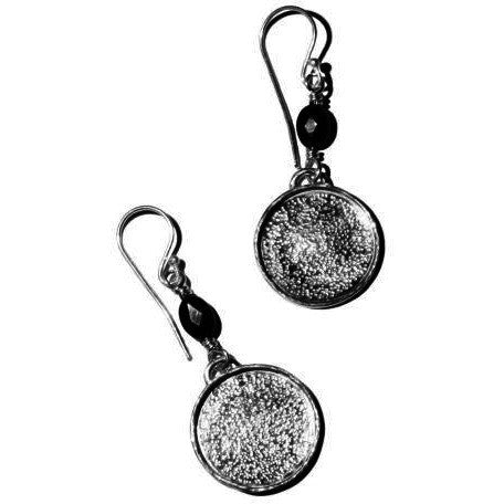 STERLING SILVER & BLACK ONYX EARRINGS - Side Street Studio