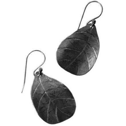 STERLING SILVER LEAF DESIGN EARRINGS