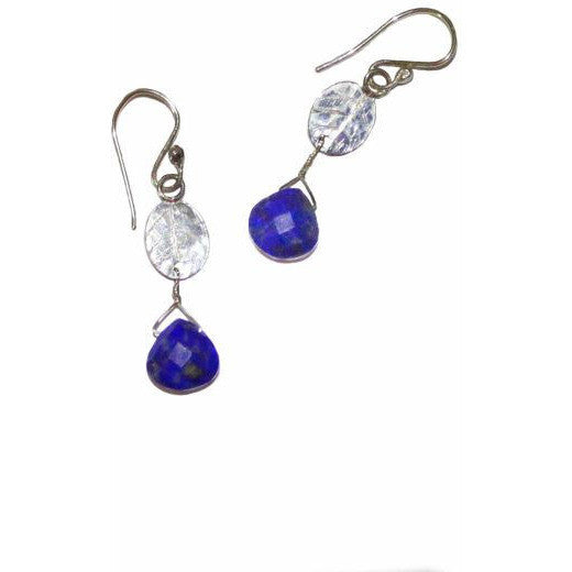 STERLING SILVER AND LAPIS LAZULI EARRINGS - Side Street Studio