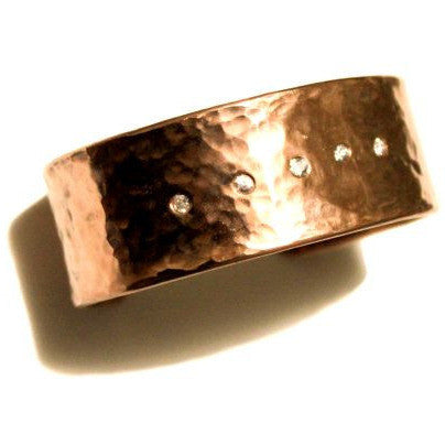 COPPER HAMMERED CUFF BRACELET - Side Street Studio