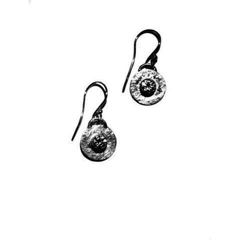 STERLING SILVER ZIRCON EARRINGS - Side Street Studio