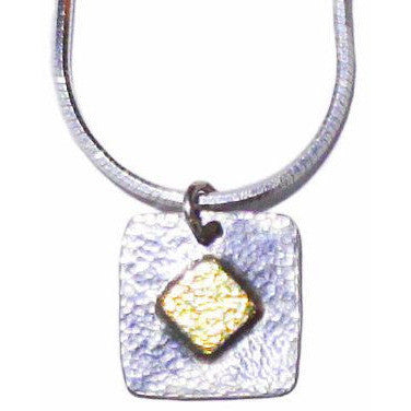 STERLING SILVER AND GOLD PENDANT NECKLACE