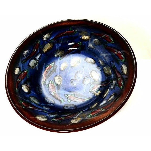 SALMON AND RIVERBED DESIGN BOWL