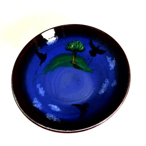 CROW AND TREE DESIGN SERVING BOWL - Side Street Studio - 1