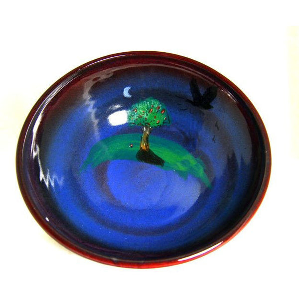 CROW WITH TREE DESIGN BOWL - Side Street Studio  - 1
