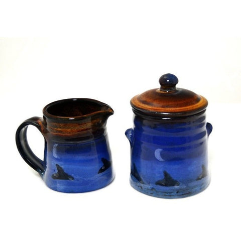 ORCA DESIGN CREAMER AND SUGAR SET