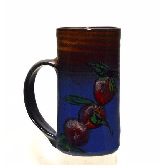 APPLE DESIGN POTTERY MUG - Side Street Studio - 1