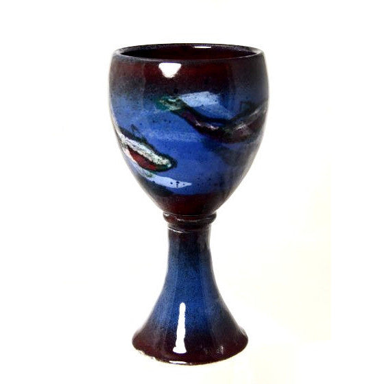 SALMON DESIGN GOBLET - Side Street Studio